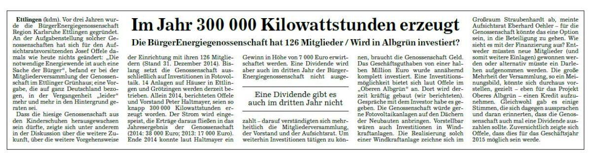 """Pressegespräch mit der lokalen Tageszeitung """"Badische Neuste Nachrichten"""""""